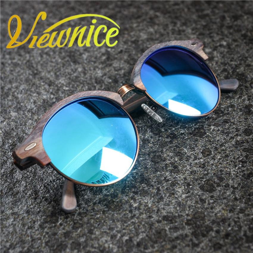 Viewnice Sunglass Men Polarizované brýle oculos masculino Dřevěné sluneční brýle Acetate Classic Brand design Nýty Driver Eyewear 4246