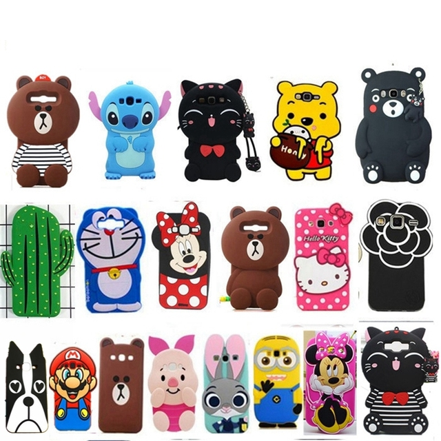 huge selection of 795cb a69c5 US $4.09 |Cute 3d case For Samsung Galaxy J3 2015 2016 J310 cartoon kitten  rabbot bear cover for Samsung J3 pro J3110 soft silicon case-in Fitted ...