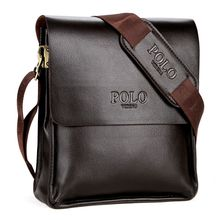 High Quality Leather Fashion Men's Crossbody Bags Office Briefcase Business Casual Shoulder Bags Brown Messenger Bags Black Brow