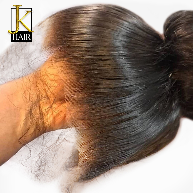 Glueless Full Lace Human Hair Wigs Brazilian Remy Lace Straight Human Wigs For Black Women Pre Plucked With Baby Hair JK Hair