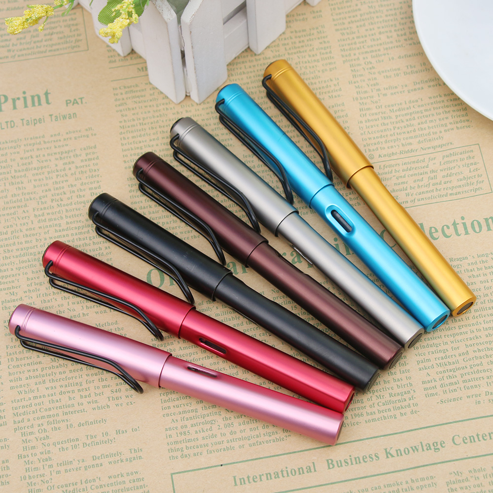 0.38mm  Aluminum Alloy Fountain Pen Extra Fine Nib  Metal Pen Gifts