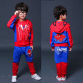 new spring Children's spider-man print casual set t-shirts pants and vest Fashion baby cartoon clothing Suits 3pcs sport clothes