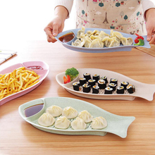 dish promotion new cute appetizers dish shape plate bowl cake display dish dishes with kitchen set accessories wheat straw fish