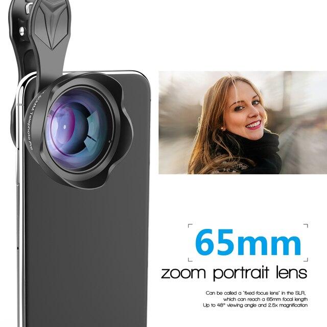 APEXEL Professional phone camera Lens 3X HD SLR telescope Portrait lens bokeh for iPhone 8/7 plus Xiaomi more smartphone 65mm 3