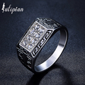Iutopian Brand New Arrival Vintage Jewelry Anti Allergy Ring with White Rhinestone for Men US Size 7 to 11 #RB01677