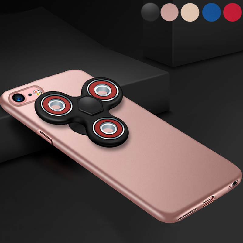 2 in 1 Finger Hand Spinner Fidget Magic Phone Cover Case for iPhone 7 7 Plus
