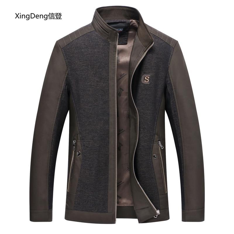 Мужская куртка XingDeng, однотонная Повседневная куртка-бомбер на весну и осень, 4xl