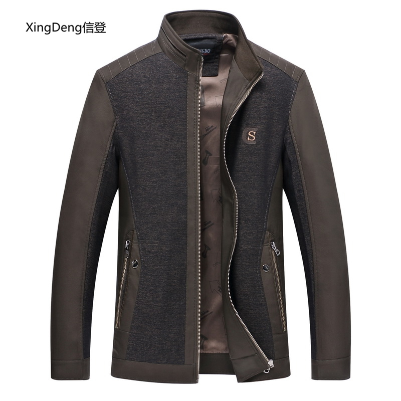 XingDeng 2018 New Casual Solid Baseball Jacket Men Spring Autumn Overcoat Fashion Slim Bomber Jackets Men's Top Coat Plus 4xl