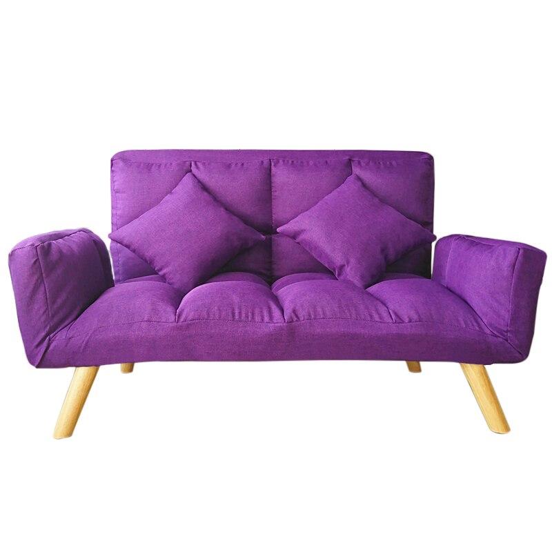 Modern Simple Folding Lazy Sofa Living Room Chair Bedroom Tatami Cloth Art Removable Adj ...