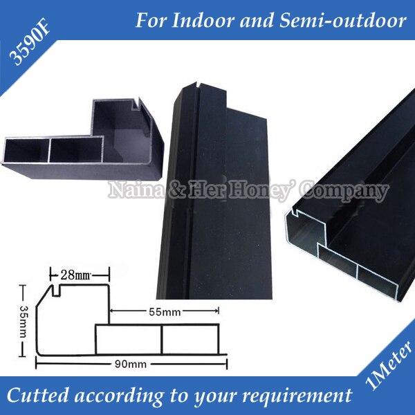 1meter/pc 6meters/lot 3590F Straight Corner LED Display Screen Frame