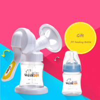 VALUEDER Newest Manual Breast Pump with Non spill Milk Bottle Set Soft Silicone PP Women Feeding Breast Pump Bottle Sucking