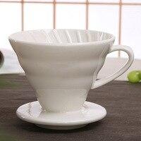 V60 estilo café gotejamento copo filtro permanente despeje sobre máquina de café com suporte separado cerâmica dripper motor|Filtros de café|   -