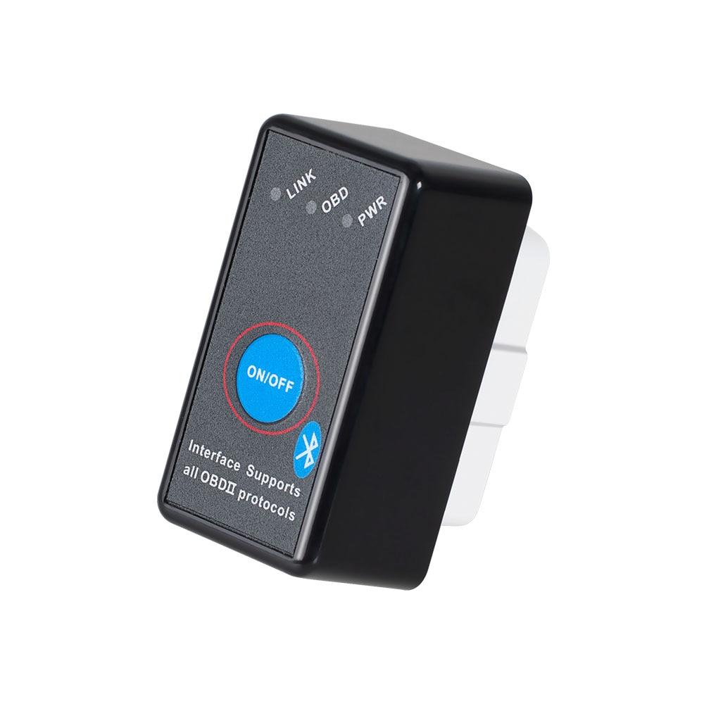 V1.5 Super Mini ELM327 Bluetooth con PIC18F25K80 ELM 327 con interruptor OBD2 CAN-BUS herramienta de diagnóstico del escáner