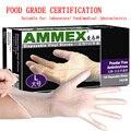 Одноразовые перчатки ПВХ Прозрачные латексные резиновые лаборатории медицинского питания перчатки без пудры 100 шт. AMMEX бесплатная доставка