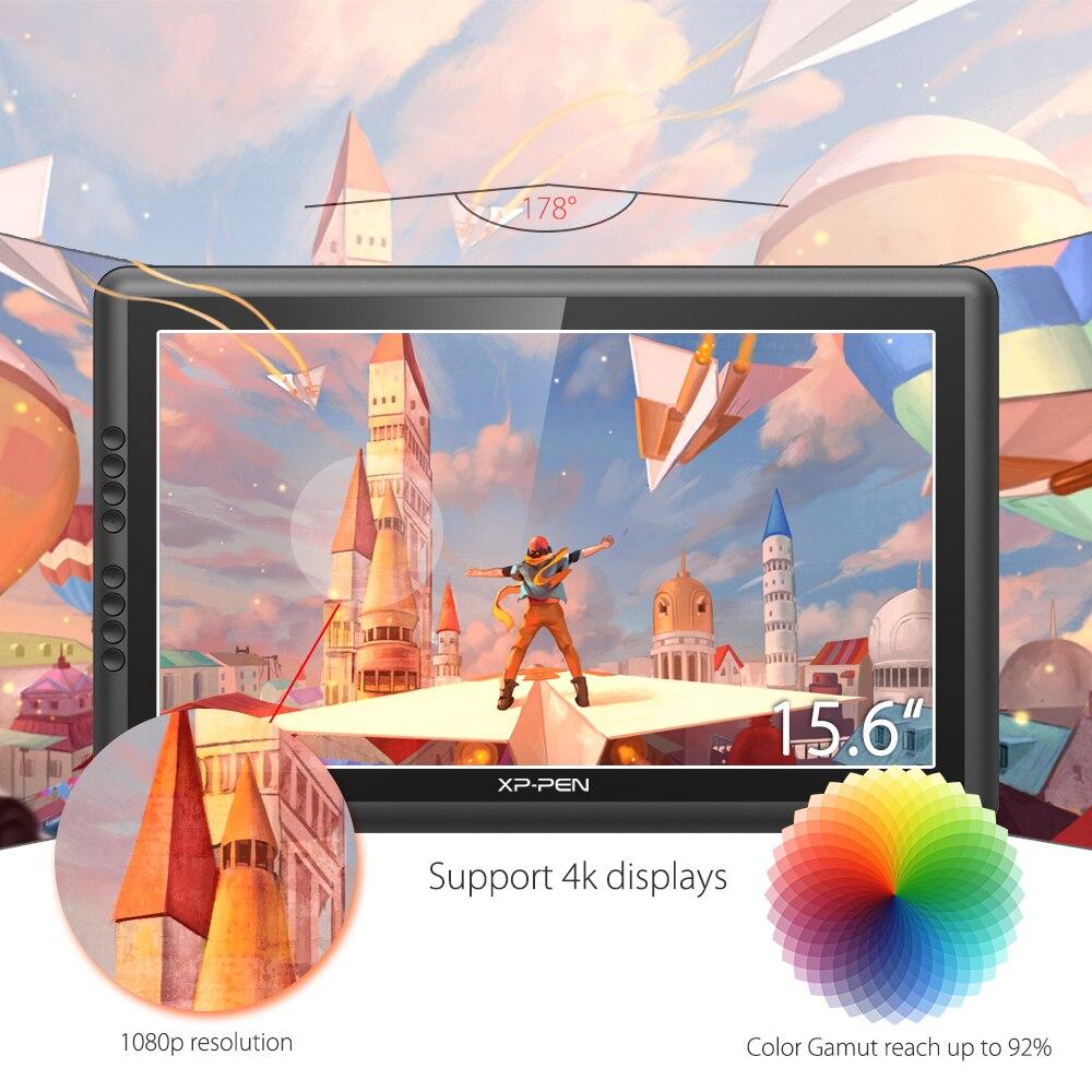 XP-Pen Artist16Pro dibujo tableta Monitor gráfico tableta Digital electrónica con teclas exprés y soporte ajustable - 2