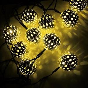 Image 5 - Led 야외 태양 램프 led 문자열 조명 요정 휴일 크리스마스 결혼식 파티 garlands 태양 정원 방수 led 태양 빛