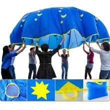 Зонтик парашют игрушка Крытый Открытый забавная игра сотрудничество сенсорные Обучающие Развивающие игрушки для детей ясельного возраста