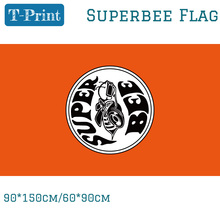 Free shipping 3x5FT Polyster Superbee Flag For Car Banner 90x150cm 60x90cm Racing