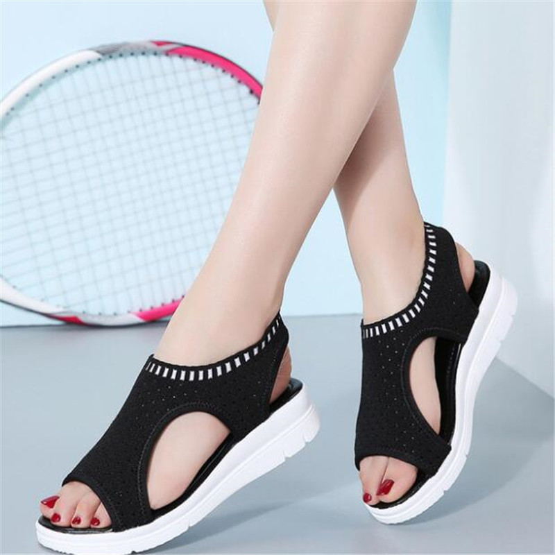 Fashion Women Sandals 2019 Breathable Comfort Shopping Ladies Walking Shoes Summer Platform Black Sandal Shoes women sneakersFashion Women Sandals 2019 Breathable Comfort Shopping Ladies Walking Shoes Summer Platform Black Sandal Shoes women sneakers