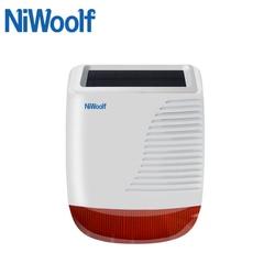 433 MHz Sem Fio do Alarme Solar Sirene luz Estroboscópica Flash LED Alarmes Todos Para Sua Segurança Em Casa Sistema de Alarme Para W2B PG103 G90B Plus