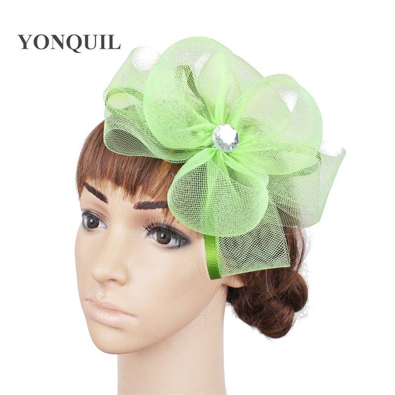 6ea469fd0cddc Señoras elegantes flores de plumas mujeres kentucky accesorios fascinators  de lujo para sombreros de Boda nupcial sombreros y razas OF1525