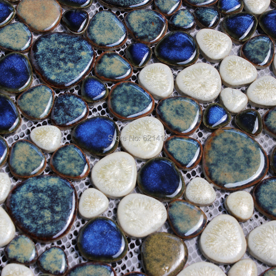 Backsplash tile porcelain mosaics bathroom wall stickers hs0037 - Dark Brown Ceramic Porcelain Mosaic Backsplash Hmcm1015 Pebble Kitchen Wall Tile Sticker Bathroom Floor Tiles
