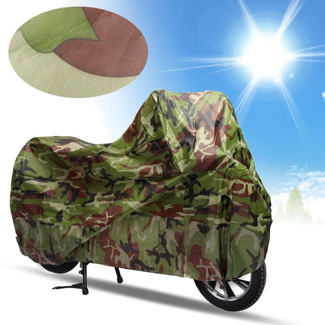 XL Camouflage Waterproof Bike Motorcycle Cover Outdoor Care Dust Rain Sun Prevent Bicycle Cover