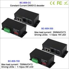 цена BC-809-CC 3CH DMX512 Decoder constant current controller 350mA/700mA  for LED Strip Tape led downlight led wall washer онлайн в 2017 году