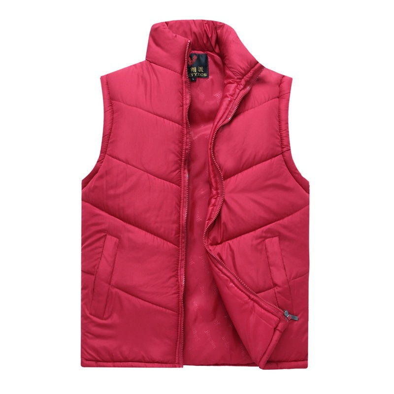 Spring Autumn Stylish Casual Mens Puffer Vest Coats Man Red Dark Blue Gray Black Warm Wadded Sleeveless Jackets Male Stand Collat Waistcoat (11)