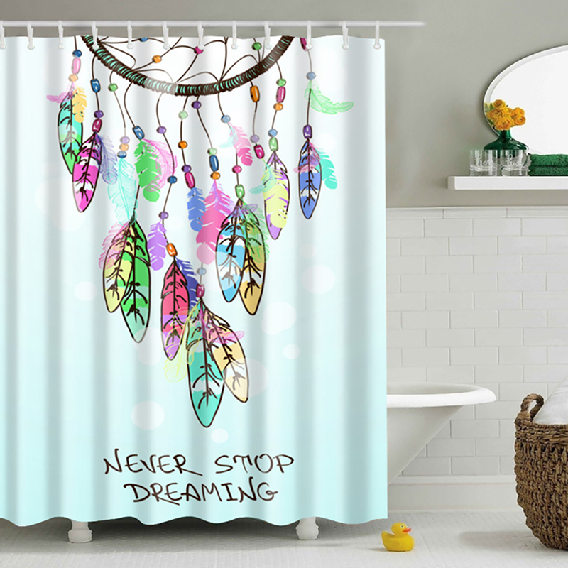 3D Colorful Shower Curtains Decor Collection Nautical Seascape Picture Print Bathroom Set Fabric Shower Curtain with Hooks New