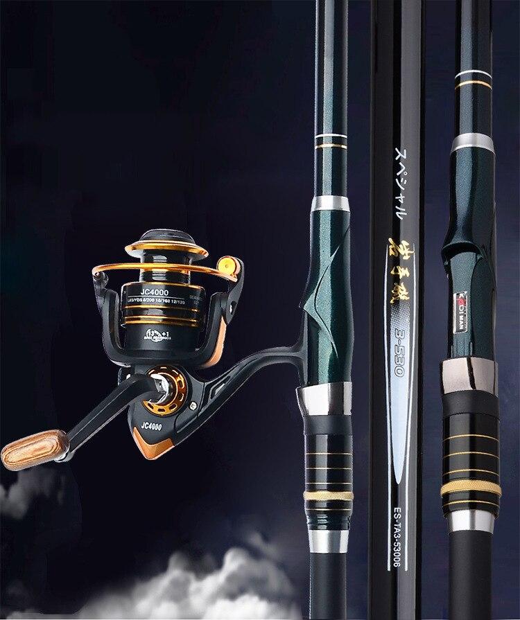 3.6 メートル 4.5 メートル 5.4 メートル 6.3 メートルの高炭素繊維ロッキー伸縮釣竿紡績ポールフィーダー鯉ロッド A132  グループ上の スポーツ & エンターテイメント からの 釣り竿 の中 2