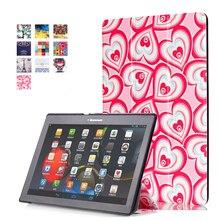 Impresión colorida Del Caso para Lenovo Tab 3 10 Negocio TB3-X70F/M Tablet Cubierta de la caja de 10.1 pulgadas para Lenovo Tab 2 A10-30 X30F + Stylus Pen