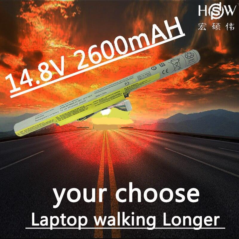 A HSW 14.4 V 2200 mAh Da Bateria Do Portátil Para LENOVO L12L4K01 L12S4E21 L12S4K01 L12M4E21 L12M4K0 para IdeaPad Z400 Z400A Z500 P400 p500