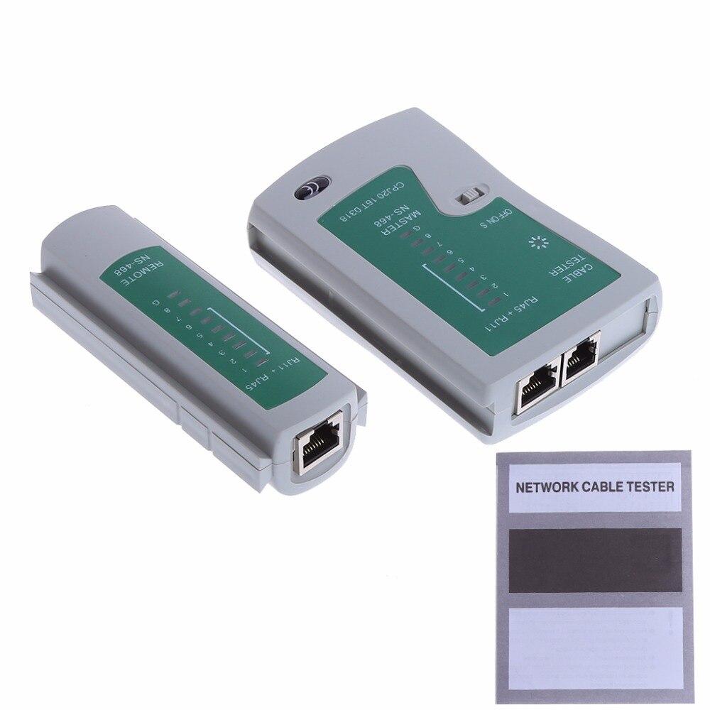 Профессиональные сети тестирование RJ45 RJ11 CAT5 UTP сетевой кабель сетевой тестер Новый инструмент Перевозка груза падения-PC друг