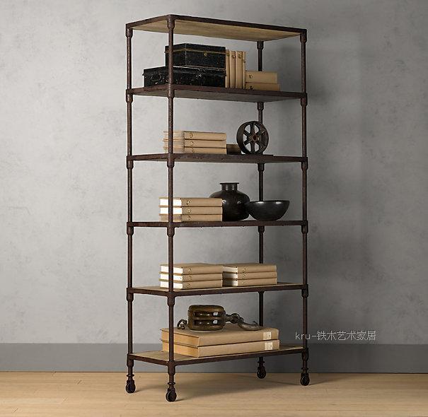 Online French Country Furniture Wrought Iron Shelf Bookcase Shengzhan Mu Loft Style Retro Aliexpress Mobile