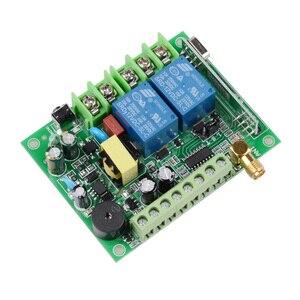 Image 5 - 220 V 10A 2CH Motor Uzaktan Kumanda Anahtarı Motor Ileri Ters Yukarı Aşağı Durdurma Kapı Pencere Perde Kablosuz TX RX sınırlı Anahtar