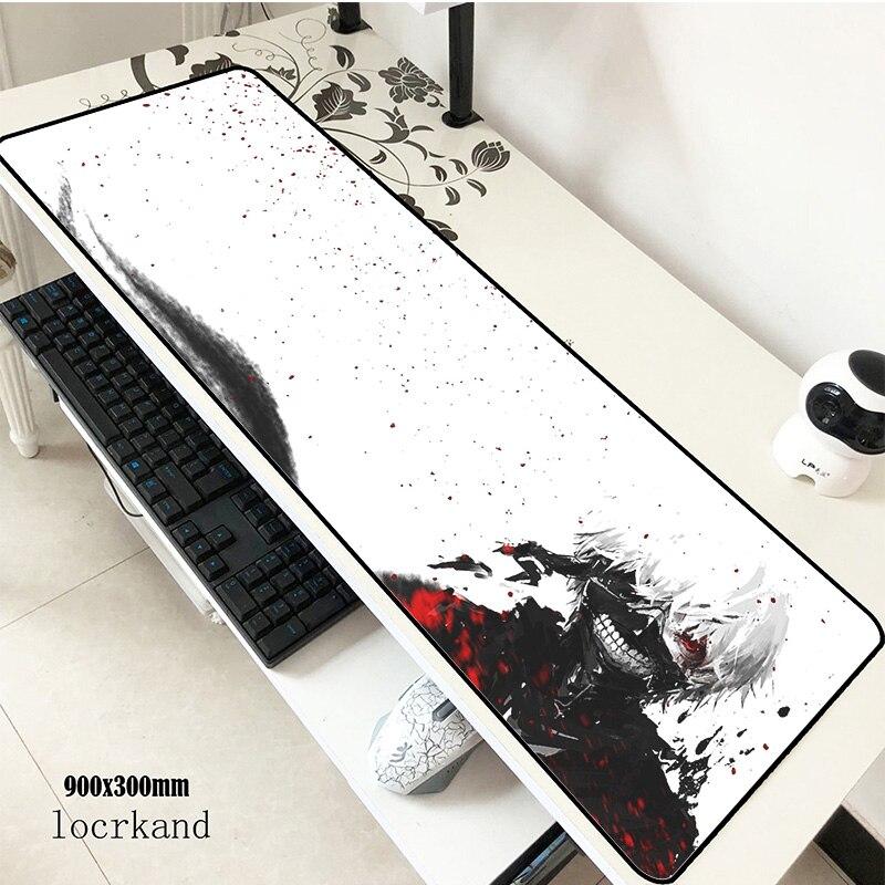 Ziasmul Tokyo Ghoul tapis de souris 90x30mm tapis à souris notbook ordinateur tapis de souris cool gaming padmouse gamer clavier tapis de souris