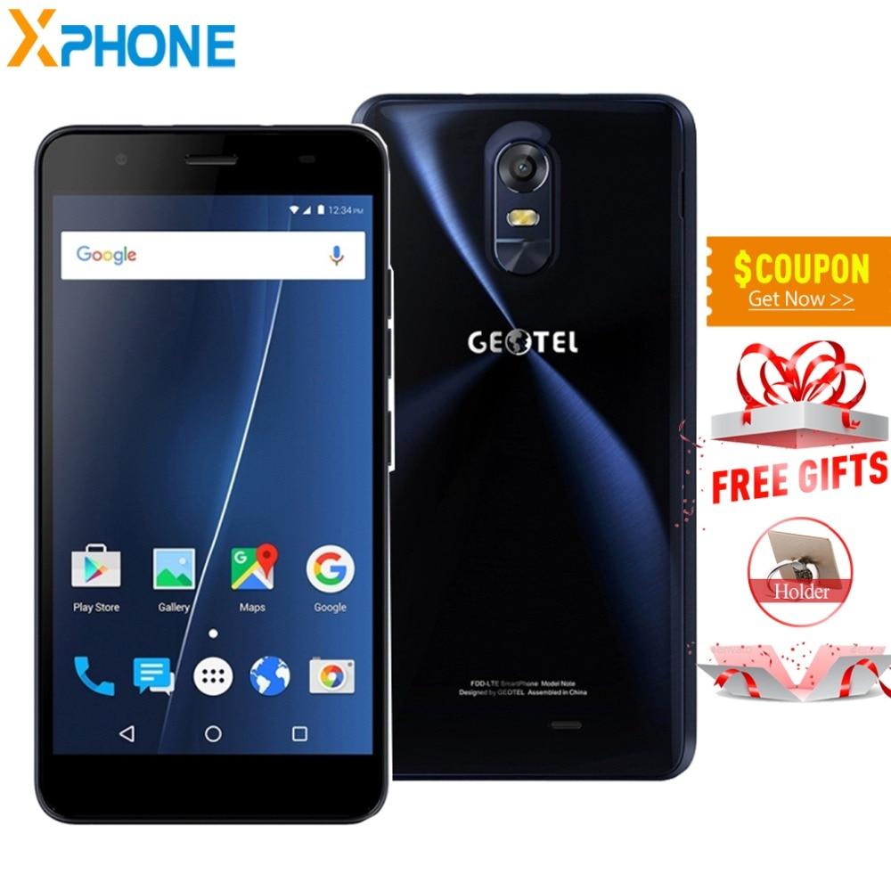 Original Geotel Note 3GB RAM 16GB ROM Android 6.0 MTK6737 Quad Core 5.5 inch 4G LET Smartphone Dual SIM Metal Body 720P Phones