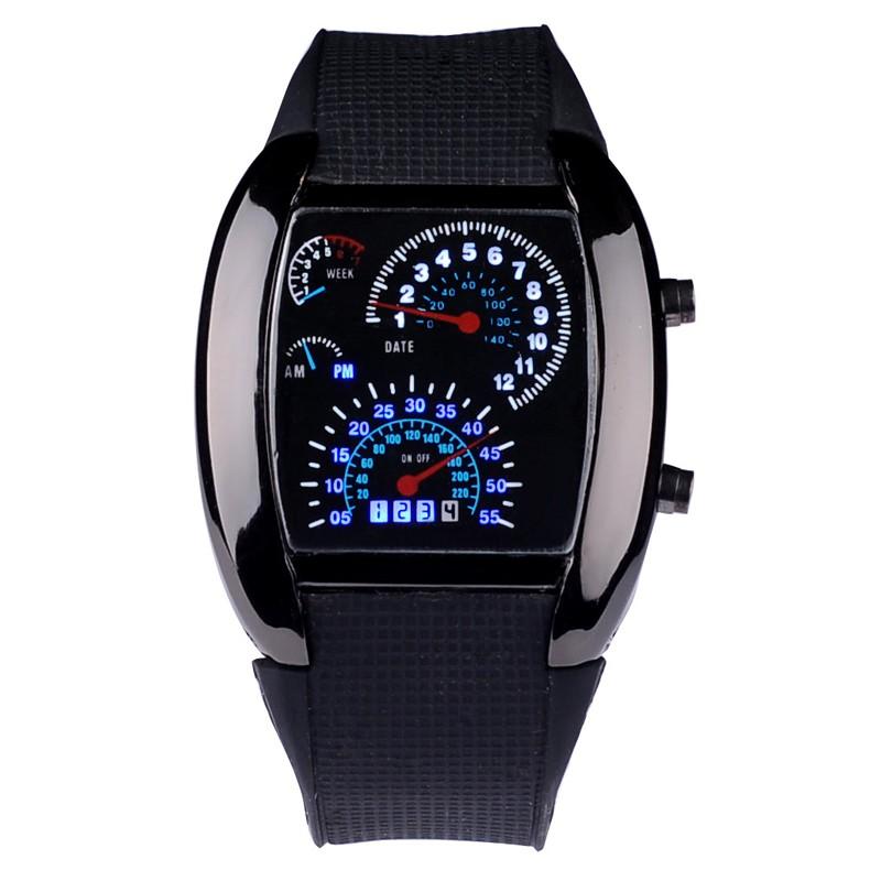 мужчины спортивные часы из светодиодов цифровые часы мужская Gonna скорость автомобиля метр номер Silicon реванш выиграл мужской наручные relogio мужчина для