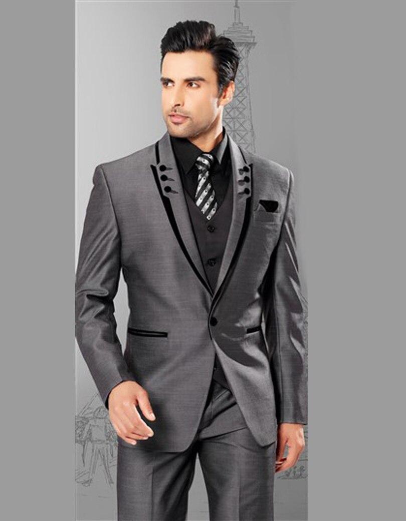 Boutons Sur Homme Pour Costume 1 Mesure De Mariage Gris Lcq3AS5j4R