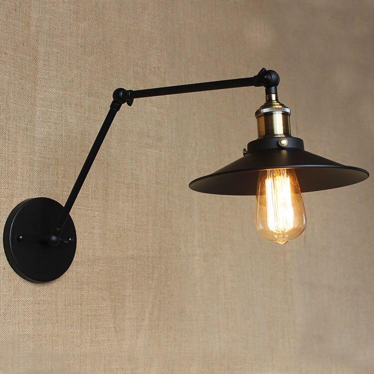 Elegant American Style Retro Light Simple Creative LED Lamp Outdoor Antique  European Lighting Industrial Iron Bedroom Lighting