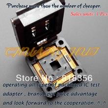 Pitch=0.5mm Size=28mmX28mm IC51-2084-1052-5 Test socket  Clamshell types TQFP208 QFP28 IC SOCKET