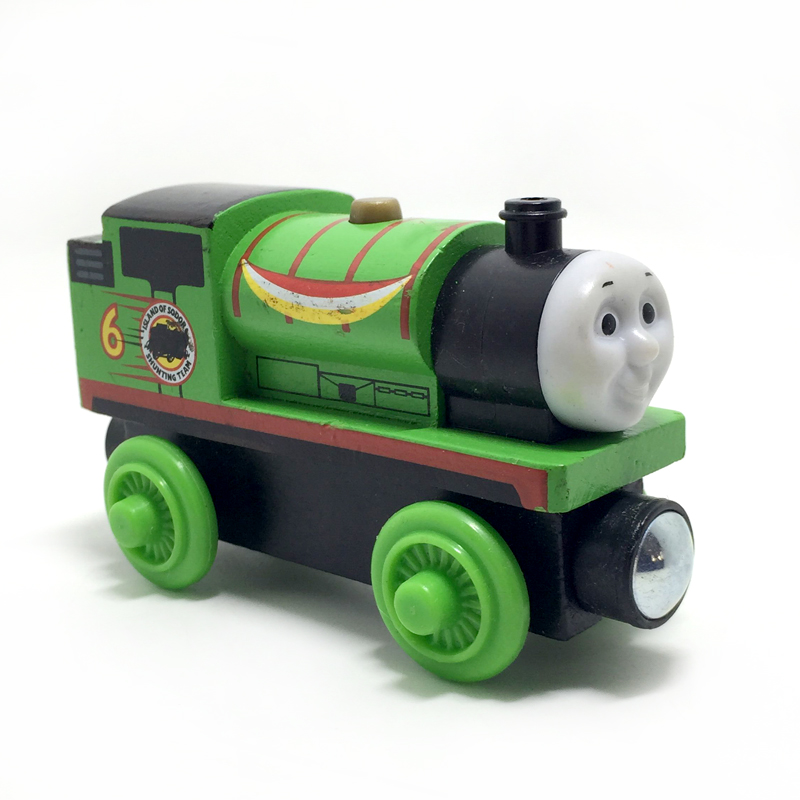 w19 Thomas and Friends Contest version Percy Wooden Railway Train Anime Toy Thomas Train Model Great Kids Toys for Children