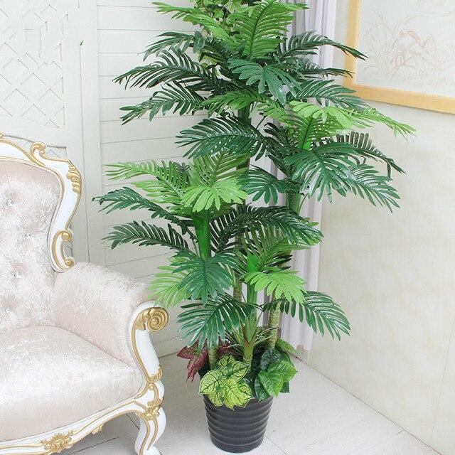 Großhandel künstliche pflanzen kunststoff Scutellaria baum vergossen bonsai künstliche palm trees home wohnzimmer dekoration faux pflanzen