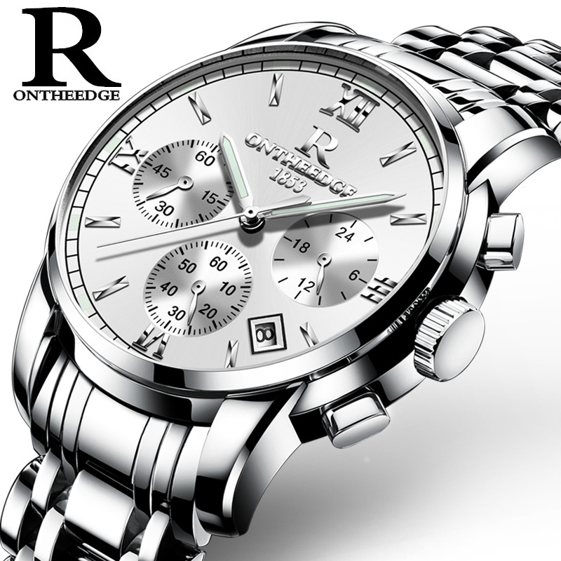 zegarki meskie 2017 Luxury Brand Watches Men Stainless Steel Casual Business Watch Saterproof Man Quartz Analog Satches Clock