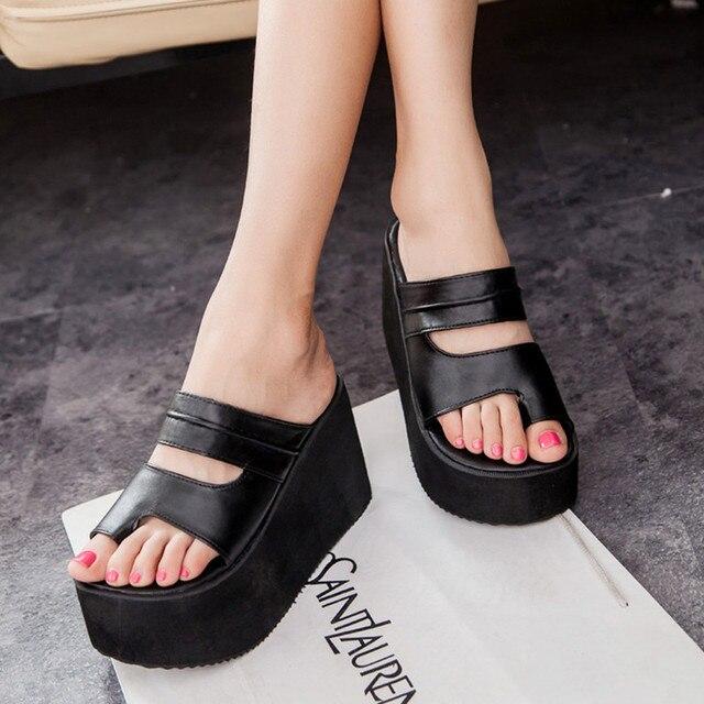50608307686 Summer New Vogue Nice Flip Flops Platform Wedges Sandals Women Foot  Wrapping Beach Slippers Women Shoes Sandals