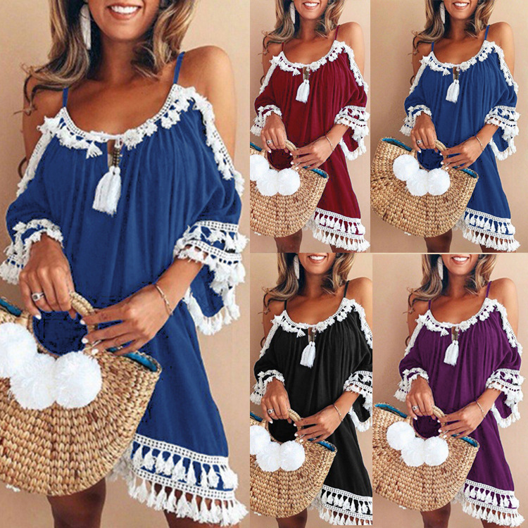 85b2398ab9f11 Worldwide delivery casual off shoulder boho mini dress in NaBaRa Online