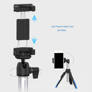 Image 4 - Benro Bluetooth Selfie Stick Tripod Monopod Self portrait Vlog Live Stick for iPhone 11Huawei Gopro Hero Osmo Action