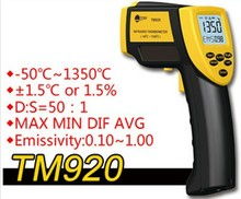 On sale New infrared thermometer TM920 digital thermometer Multifunction pyrometer Temperature Range: -50C-1350C outdoor thermometer