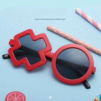 MINIMUM Children Polarized XO Shape Sunglasses Protecting Children's eyes eyewear Cutie Colorful Summer Babies Sunglasse Anti-UV